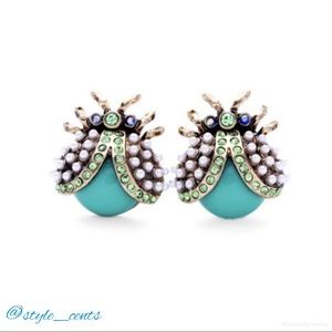 NWT Boutique Statement Bug Earrings